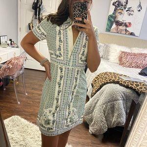 Vintage Multi Pattern Dress
